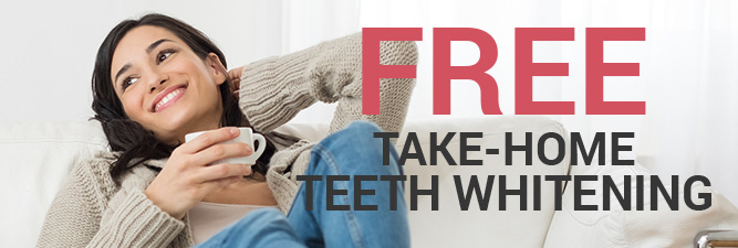 Free take-home teeth whitening coupon